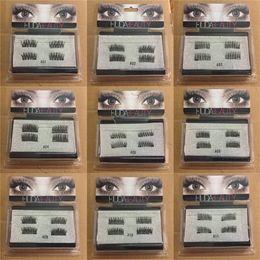 Wholesale Plastic Wearing - Magnetic False Eye Lashes H D Full Strip Lashes Easy to wear Extensions handmade Lashes Voluminous 3D Magnetic Eyelash