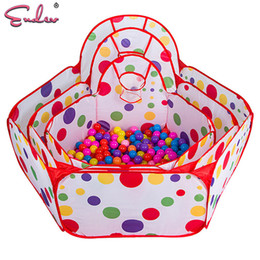Wholesale Ocean Ball Pit - Endev 100pcs balls Kid Swim Ocean Ball Pit Pool Game Playhouse Foldable Play Tent In Outdoor Hut Pool toy for Chilren gift