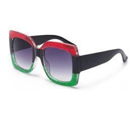 Wholesale Chic Frames - 2018 POP Trend Women Sunglasses Female 3 Color Patched Chic Luxury Brand Designer Sunglass Model Eyeglasses Quality Eyewear Glitering Frame