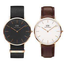 uomini donne orologi d'oro Sconti Orologio da donna Luxury Famous Designer Daniel Watches Uomo Donna Lover 36 40mm Gold Wristwatches Classic Ladies Clock montre femme