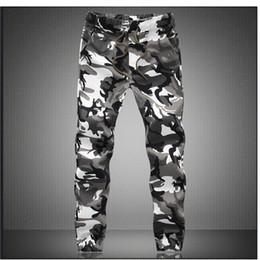 87fbe2f39919 Pantaloni mimetici militari Jogger Pantaloni da uomo in cotone puro  Primavera autunno matita Harem Pant uomini pantaloni comodi Camo Joggers