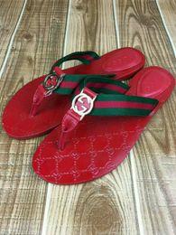 sandales en caoutchouc blanc Promotion Pantoufles pour hommes de la marque des hommes de la marque des sandales en cuir New 2018 européenne léopard impression femmes chaussures de luxe sandales de marque, taille 36-45