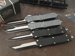 Wholesale Microtech Combat - MT! Custom Microtech Gear Combat Hellhound Tanto Troodon Knife Double Action Plain Ultratech EDC Tactical Knives