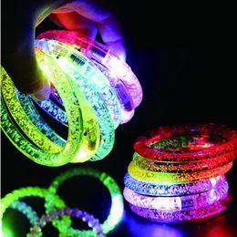 Wholesale glow watches - Led Dance Bangle Cartoon Watch Boys Girls Flash Wrist Band Light Bracelets Children's Day birthday Party Led Bracelet
