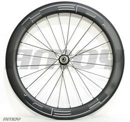 2019 vélo noir mat Livraison gratuite 23mm largeur HED peinture noire 38/50/60 / 88mm roues de vélo en carbone carbone 700C roues de vélo de route vélo noir mat pas cher