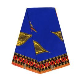 tela hollandais con estampado de cera Rebajas 6 yardas 100% algodón imprime tela hollandais de cera para ropa estilo moderno cera africana ankara tela WB-3