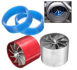 Assorbimento del turbocompressore online-Universale 64.5mm x 50mm Filtro aria per auto Ventola di aspirazione Carburante Compressore per turbocompressore Turbina Turbo Turbocompressore