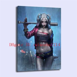 Wholesale Modern Floral Art Paintings - Harley Quinn -4, Home Decor HD Printed Modern Art Painting on Canvas (Unframed Framed)