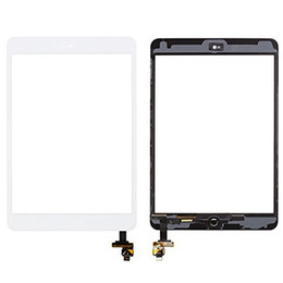 Wholesale Glass Panel Connector - 50pcs 100% High Quality New Touch Screen Glass Panel with Digitizer with ic Connector Buttons for iPad Mini And Mini 2