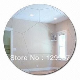 Wholesale Kids Acrylic Mirrors - Free shipping Shatterproof football sports acrylic wall mirror stciker for boy and kids home decoration