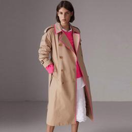 Argentina Chaquetas de color caqui Trench Coat Moda Hombre Estilo Camisa de manga larga Abrigos delgados Casaul 2018 Otoño gabardina larga Outwear Suministro
