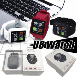 Wholesale camera control box - Smart Watch U8 Smartwatch U Watch For iOS iPhone Samsung Sony Huawei Android Phones In Gift Box