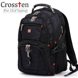 Wholesale multifunctional laptop backpack - Wholesale- Top quality Swiss Multifunctional laptop bag Backpack for 15.6 inch laptop Schoolbag Travel Bags 8112