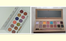 Wholesale Pen Shadow Eyes - kaily love enner Royal Peach Palette 12colors Eyeshadow 16colors take me on vacation with Pen Brush Cosmetics Eye shadow Eyeshadow
