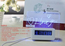 Wholesale Message Board Alarm Clock Calendar - Free ship authentic multifunctional ASUS fluorescent message board alarm clock electronic mute lazy clock creative usb extension