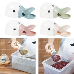 Wholesale Duck Clips - Cute Duck Head Shape Plastic Rice Flour Shovel Sealed Folder Spoon Sealing Clip Creative Multifunction Kitchen Tool OOA4261