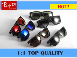 Wholesale Hip Sunglasses - 2018 new Classic Brand Mirror RLEI DI 4165 100% Polarized Sunglasses Men Women driving Male Sun Glasse hip hop Glases gafas oculos De Sol