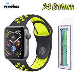 Bracelet élastique sport en silicone respirant pour montre Apple 42 38 44 40 mm Bracelet poignet série Apple 4/3/2/1 universel ? partir de fabricateur