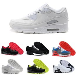 Nike Air Max 90 Nuevo Hombre zapatos para mujer clásico 90 Hombre y mujer Zapatillas de correr Negro Rojo Blanco Entrenador deportivo Cojín de aire Superficie transpirable Calzado deportivo 36-46 desde fabricantes