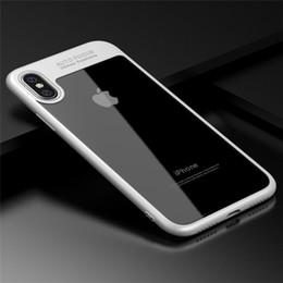 2019 étuis iphone couleur solide en plastique 2018 Date Protection Complète Cas TPU PC Dur Clair Mince Couverture Arrière Cas pour iPhone X iPhone 8 8 plus