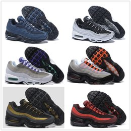 Wholesale nude colour shoes - Air Sports 95 Running Shoes Hight Quality 30 Colour Mens Black Men best Athletic walking Tennis Shoes Grey Man Training Sneakers EUR 40-46