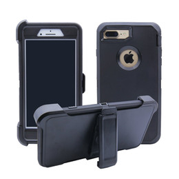 Wholesale galaxy note clip - For iPhoneX 6 6s 8 7 plus Case Crash-proof Hybrid Waterproof Defender Case Samsung Galaxy Note 8 S8 & Clip Package Free Shpping