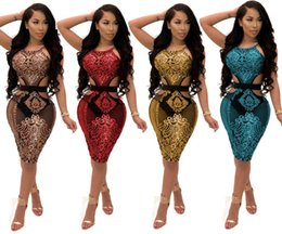 gold glitter shorts Promo Codes - sequins evening mini dress glitter skirts spaghetti strap sexy night club bandage short dresses desinger ladies party bandage dresses