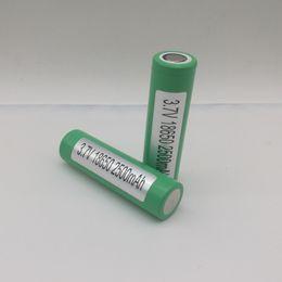 2019 li 3.7v comprimido 100% de Alta Qualidade 25R 18650 Bateria 2500 mAh 20A Alta Capacidade Recarregável 18650 Bateria para E Cig Mods para Samsung 25R