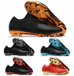 save off a5767 afb7e 2018 botines de fútbol baratos Mercurial Vapor Ultra FG botas de fútbol  originales para hombre zapatos de fútbol botas de futbol ultra boost Negro  oro Azul ...