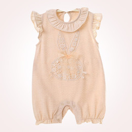 Wholesale Wholesale Organic Baby Rompers - 2018 Baby Rompers A Class Cotton Baby Clothing Summer Sleeveless Organic Thin Cotton Jumpsuit Infant Gil Clothes