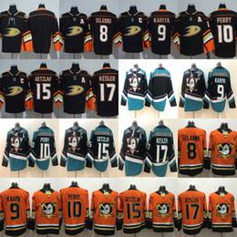 e2509bcdc Mighty Ducks Anaheim Hockey Jersey 9 Paul Kariya 8 Teemu Selanne 10 Corey  Perry Ryan Getzlaf 17 Ryan Kesler Blank Anaheim Ducks Jerseys
