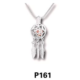 Wholesale pearl dreams - 18KGP Dream Catcher Locket Pendant, Can Hold Pearl Gem Beads Dreamer Guardian Style Pendant Necklace Fitting Lovely Charms