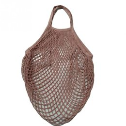 Chinese 2018 Women Cotton Mesh Net Single-shoulder Bag Fruit Storage Beach  Handbag Durable Lightweight 65295b8402c16