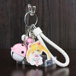 la luna de marinero Rebajas Anime Sailor Moon Llavero Mars Jupiter Mercury Bell Bell Bolsos Accesorios Accesorios Llaveros Llavero Colgantes