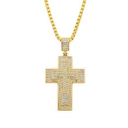 Personalizado cristiano de Jesús Cruz collar de las mujeres de los hombres de Hip Hop collar colgante de joyería 2018 Accesorios de Moda collar largo desde fabricantes