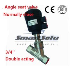 Wholesale Valve Actuator - plastic angle seat actuator valve normally close DN20 3 4 thread double acting high temperature ss304 body valve