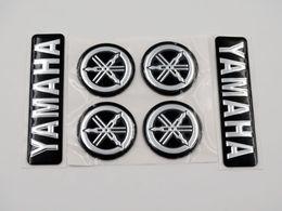 modelli 3d personalizzati Sconti Black Silver 3D Emblem Decal 7cm plus Diapason 3cm per tutti i modelli Yamaha moto Custom