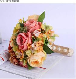 2019 strass rosso artificiale del rhinestone 2019 all'ingrosso colorato bellissimo bouquet da sposa sposa Simulazione bouquet da sposa rosa Sposa con fiori Puntelli da tiro matrimonio A1
