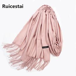 Горячая бандана онлайн-hot sale 2018  women winter scarves shawls cashmere scarf wrap lady  solid long size soft bandana foulard female