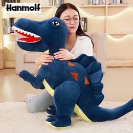 großhandel plüsch hai Rabatt Spinosaurus Dinosaurier Plüschtier Dino Dinosaurier Gefüllte Puppe Kinder Jungen Huggable Begleiter Tiere Spielzeug Weihnachtsgeschenk Grün / Blau