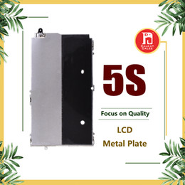 Cobertura lcd on-line-Digitador lcd de metal placa traseira escudo moldura para iphone 5s display lcd tampa de metal peças de reposição