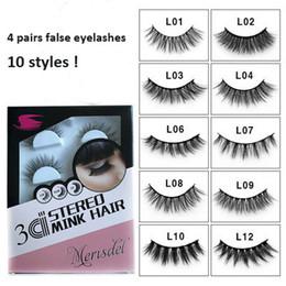 bc54d2c47db 4 pairs natural false eyelashes fake lashes long makeup 3d mink lashes  eyelash extension mink eyelashes for makeup