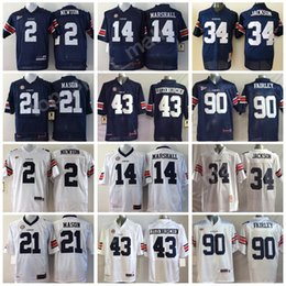 Wholesale blue marshall - Auburn Tigers Jersey Men College Football 14 Nick Marshall 21 Tre Mason 43 Philip Lutzenkirchen 90 Nick Fairley Stitched SEC Navy Blue White