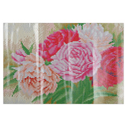 Wholesale Wealth Flower - 30 x 40cm 5D painting square diamond Peony Flower Diamond Painting Cross Stitch Tool Needlework DIY set Diamond Painting + Rhinestone Pasted