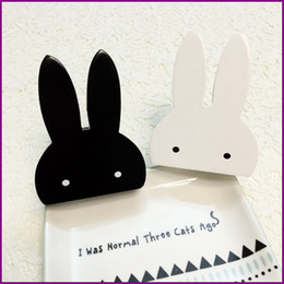 Wholesale Wholesale Hangers For Children - Cute bunny Storage Bathroom Hook with wooden clothes hook for kids rabbit hanger room wall decorate children room