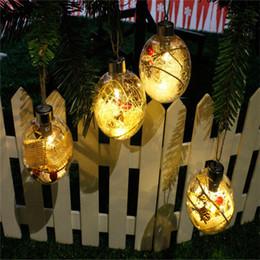 Wholesale Transparent Plastic Baubles Wholesale - 1PCS Transparent Christmas Ball LED Lights Clear Plastic Christmas Ornaments Bauble Xmas Gifts Present Decoration Party Supplies
