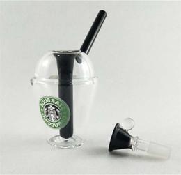 2019 tazza di tubo Dabuccino Style ispirato Starbucks Tema Concentrato Cup Rig hitman bongs vetro rig tubi di vetro con dimensioni 14.4mm tazza di tubo economici