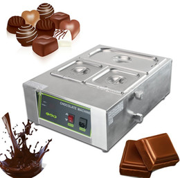 Wholesale Machine For Chocolate - Free Shipping For Commercial Use 4 Lattice Chocolate Melting Machine Digital Chocolate Fountain Machine Chocolate Boiler LLFA