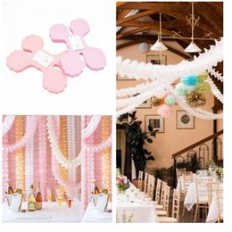 Wholesale Decorations For Baby Shower Party - Colorful Four Leaf Clover Paper Garlands For Home Party Wedding Baby Shower Kids Birthday Party Festival Decoration wen5468