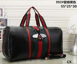 Wholesale Large Pvc - Embroidery Duffel Bags 2018 new fashion men women travel bag, brand designer luggage handbags large capacity sport bag size 55CM